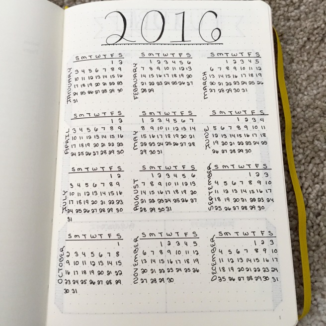 Calendar Bullet Journal : Beginning a bullet journal ohayobento
